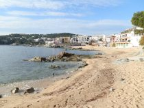 Calella de Palafrugell beach of Canadell from the footpath to Llafranc