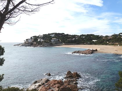 beach of La Concha just around from Platja dAro