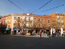Placa Nova in the centre of Palafrugell