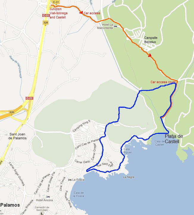 Walk between Castell and La Fosca on the Costa Brava